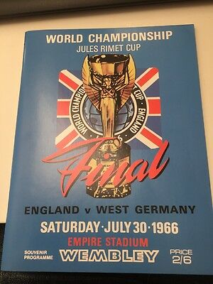 ENGLAND WEST GERMANY WORLD CUP FINAL PROGRAMME 1966 Reprint