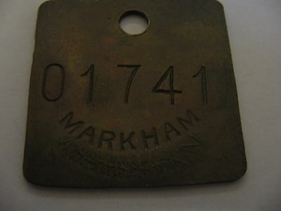 Markham Colliery 01741 Doncaster Yorkshire  Miners Mining  Pit Check Token