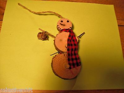 Handcrafted 3 tier Wooden Snowman Ornaments