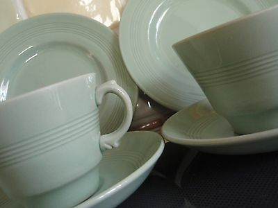 Woods Ware 'Beryl'  Cups, saucers and tea plates x 2 trio's