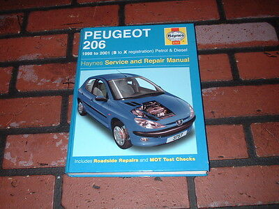 Haynes Manual For Peugeot 206. 1998 To 2001. S To X Registration.petrol & Diesel