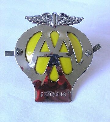 Vintage 1960's AA Car Badge - Good Condition