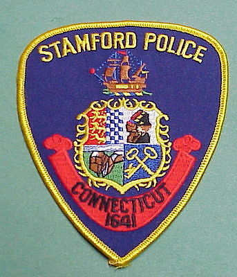 Stamford  Connecticut  1641  Ct    Police Patch   Free Shipping!!!