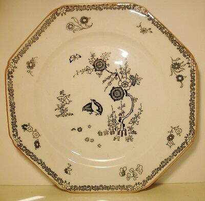 2 WOODS & SONS Blue -Old Bow Kakiyemon WOODS WARE Luncheon Plates-ANTIQUE-1924