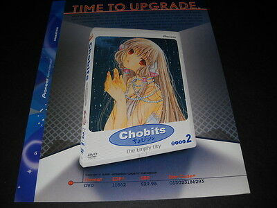 CHOBITS Time To Upgrade.... Vintage ANIME Promo Ad mint condition