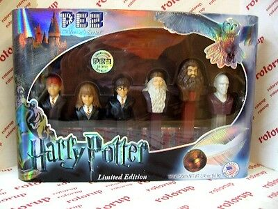 PEZ Discontinued Sold Out Harry Potter Gift Set 8 dispensers & 6 packs candy