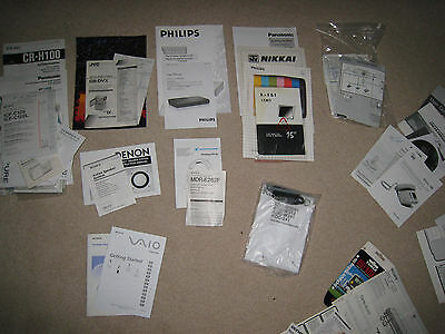 assortment of old manuals, leaflets etc hi-fi, cassette players, tv, radios, etc