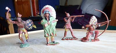 Four Native American (Indians) Toy Soldiers