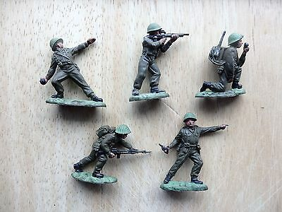 Five British Infantry Toy Soldiers