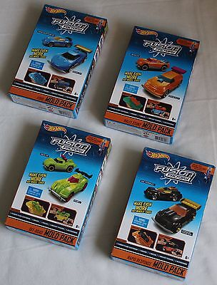Hot Wheels Fusion Factory Car Maker COMPLETE SET OF 4 Diecast Mold Packs NEW