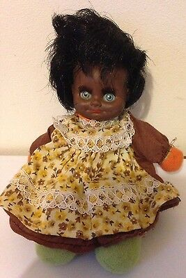 Vintage 80's Small Black Soft Bodied Doll El Greco