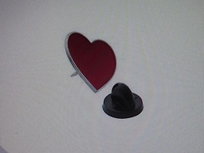 12 Enamel RED HEART Valentines Day PINS valentine lapel pin FREE SH hearts