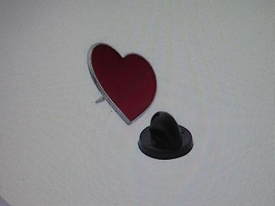 24 Enamel RED HEART Valentines Day PINS valentine lapel pin FREE SH hearts