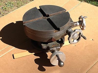 "Vintage Palmgren Rotary Table 8"" Mill Lathe Machinist Cross Slide Metalworking"