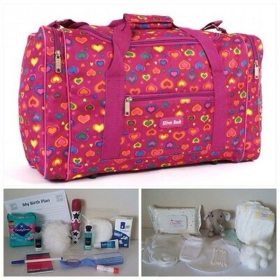 BUDGET Pre-packed Pink Maternity Hospital Labour Bag for Mum & Baby (unisex)