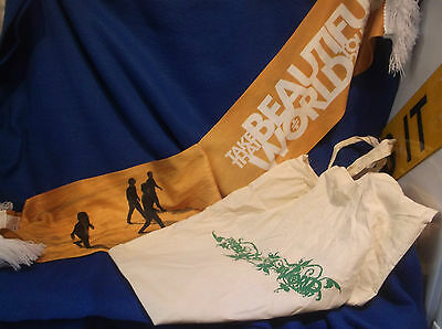 Take That...2007 Beautiful World Tour Scarf & Tote Bag...excellent Condition