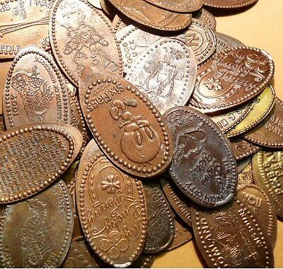 Elongated Cents (penny); Bulk Lot of 300 pieces.