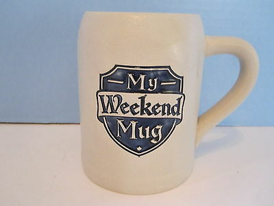 Hallmark My Weekend Mug Beer Stein Coffee Man Cave Barware NEW
