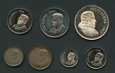 South  Africa 1968  7 Piece Proof Set No  Coa  Box Included