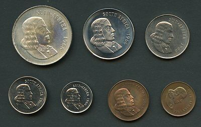 South  Africa 1966  7 Piece Proof Set No  Coa  Box Included