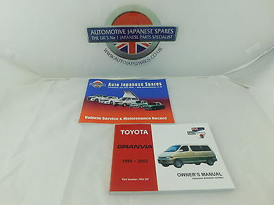 Toyota Granvia 1995 to 2002  Owner's Manual / Handbook & Service Record Booklet