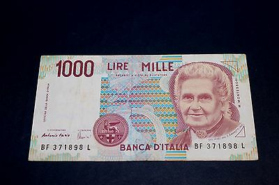 1990 Bank Of Italy 1000 Lire Bank Note SN#BF 371898 L