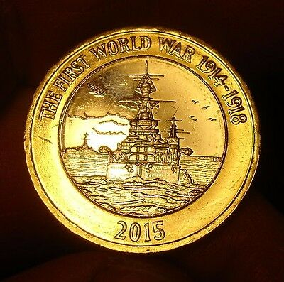 £2 Two Pound Coin The First World War 1914-1918 Rare 2015