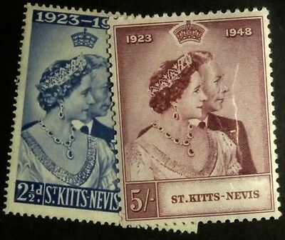 Stamps: St. Kitts:  SG# 80- MNH, 81-  MLH F-VF    (D046)