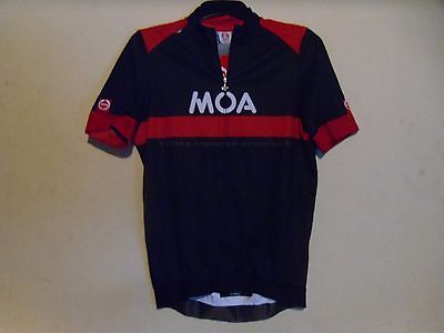 Moa Burger Cycling Jersey Top Size XL NEW RRP £95 Black and Red