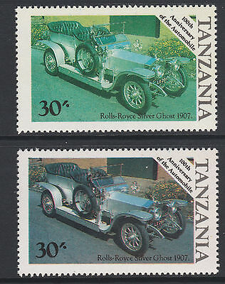 Tanzania (31) 1986 Motoring Rolls Royce Cars 30s RED OMITTED plus normal mnh