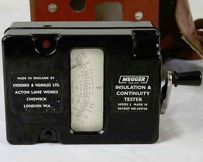 Vintage Megger Insulation and Continuity Tester Series 3 Mark III in Case