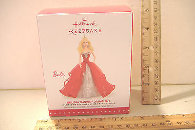 ~Holiday Barbie~1St In The Series~2015 Hallmark Ornament~