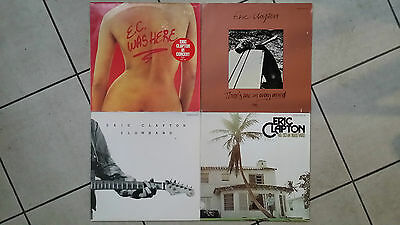 Eric Clapton : 4 x LP : 461 Ocean B. + E.C. was here + Slowhand + There is one