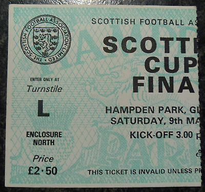 TICKET 1981 SCOTTISH CUP FINAL DUNDEE UNITED v RANGERS Exc Cond Rare