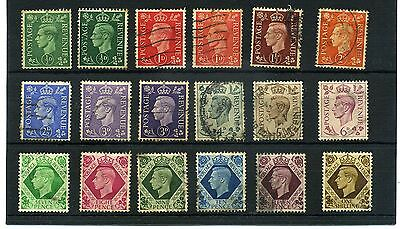 Gb.g6.18 -- Used 1937 Defin Stamps On Stockcard.