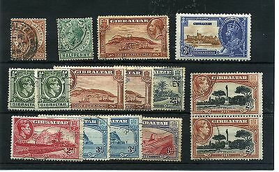 Gibraltar.15 -- G5/6 Mounted Mint/ Used Stamps On Stockcard
