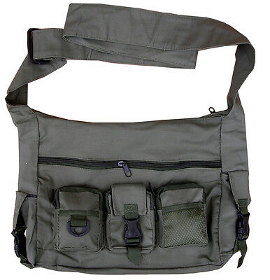 Mens Combat Army Military Travel Shoulder Messenger Grenade Bag Surplus Pouch