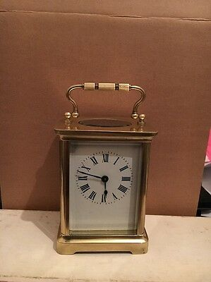 Fully Restored 8 Day Carriage Clock 5 1/2 Inches High With Handle Up