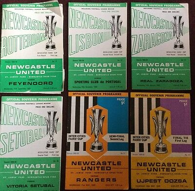 Newcastle United Fairs Cup 1969 programmes