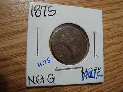 1875 10 Cent Seated Liberty Dime Ag/g