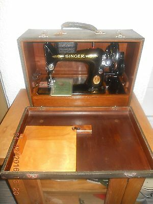 Vintage boxed Singer 99 manual sewing machine with tool box and manual perfect