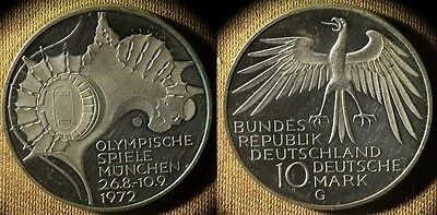 Germany Fed Rep : 1972G 10 Mk  Cameo Proof Some Hair Lines   # 133  IR4054