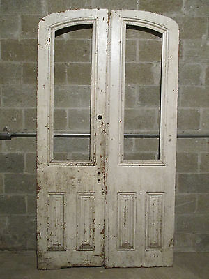~ Antique Double Entrance French Doors 48 X 89 ~ Architectural Salvage ~