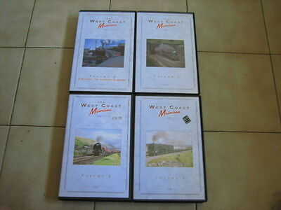 """Railway VHS videos """"The West Coast Main Line""""volumes 1 to 4"""