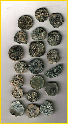 LOT(d)  16 SPANISH  ANCIENT COINS OF DIFERENT TIMES-MEDIEVAL-COLONIAL-etc.
