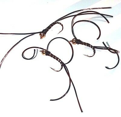 Black Trout Buzzers Trout Lures Dry Fly Fishing Trout Flies
