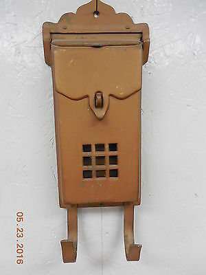 Old Vintage Metal Wall Mounted Mail Box c.1930s #