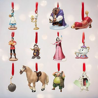 Limited Edition Beauty and the Beast Deluxe Disney Sketchbook Ornament Set New