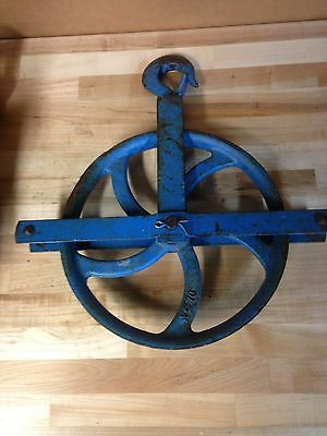 Antique Vintage Cast Iron Campbell Industrial 1000 Lb Pulley Part