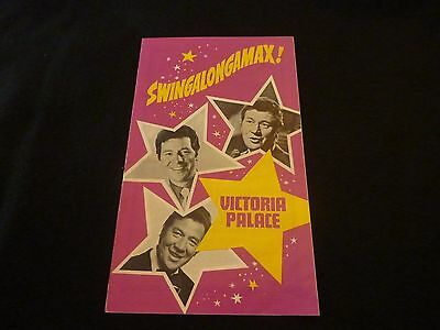 SWINGALONGAMAX Victoria Palace London 1975 Max BYGRAVES Vintage Programme Rare